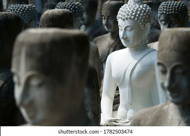 Old Ancient Stone Buddha image culture buddhism history landmark tourism attraction background