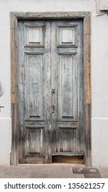 Old ancient weathered door,in Tenerife, Spain
