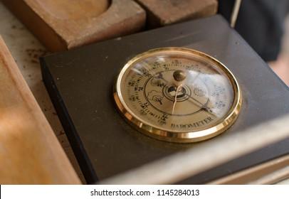 Old antique barometer