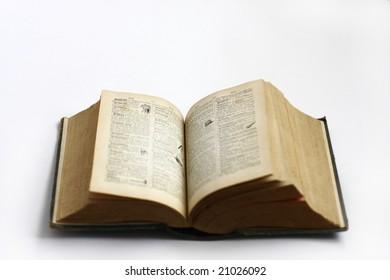 old antique books close up