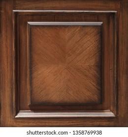 old antique brown mende wood door panel