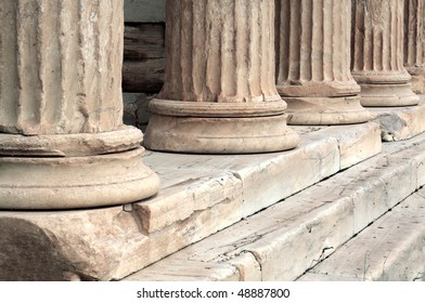 Old antique columns