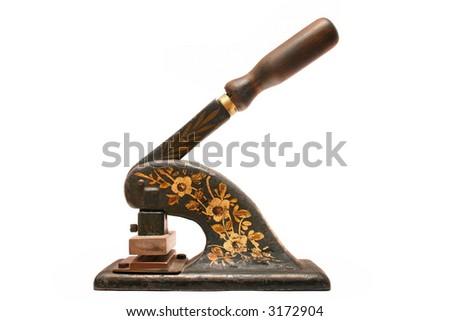old antique envelope address embosser stock photo edit now 3172904