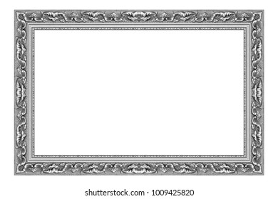 old antique frame isolated on white background