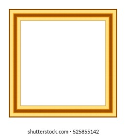 Old antique gold frame Isolated on white background, Clipping path
