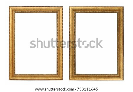 Old Antique Gold Frames Isolated On Stock Photo (Edit Now) 733111645 ...