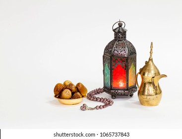 Old antique lantern with dates food