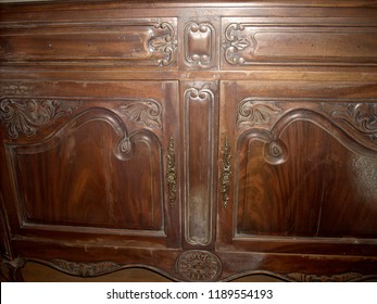 old antique mahogany cabinet door