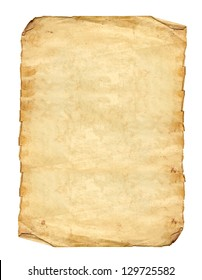 Old Antique vintage Paper isolated on white background