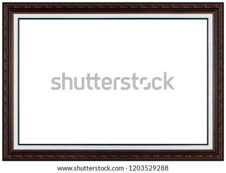 Old Antique Wooden Frame Paintings Mirrors Stock Photo (Edit Now ...