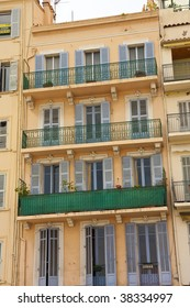 An old apartment building in Cannes France