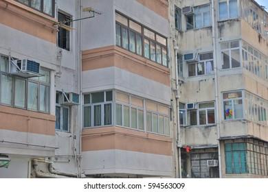 old apartment building District at  Sai Wan hk