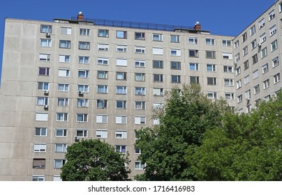 Old apartment buildings in the city