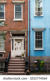 Old apartment buildings in Greenwich Village, New York City