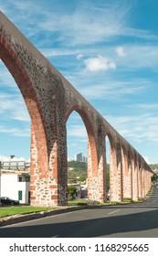 Old Aqueduct in the city of Queretaro, Mexico