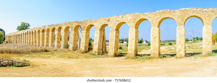 An old Aqueduct, near Lohamei Ha-Getaot, design to deliver water to the city of Acre (Akko), Northern Israel. It was built on the years 1814-1815 by the Ottoman ruler Sulayman Pasha