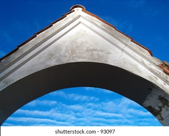 Old arc detail in sky