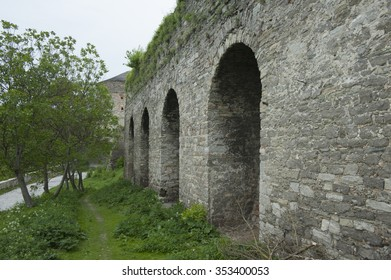 Old arch wall  in Ukraine