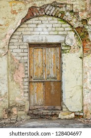 Old architectural details - door and arched entrance