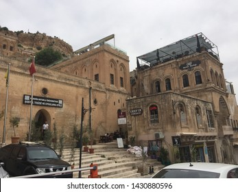Old architectural structures and shops in the streets of 'Mardin' / Mardin,TURKEY  06.06.2019