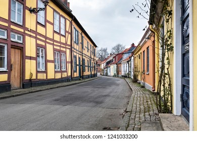 Old architecture in the Swedish town of Ystad,  Skane County.