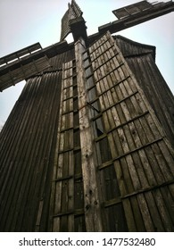 Old architecture windmill remnants rural buildings and agriculture, culture of ancient times