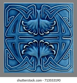 old Art Nouveau tile between 1900-1930 from Germany