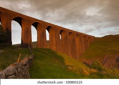Old Arten Gill Viaduct in Yorkshire Dales National Park, Great Britain