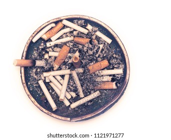 old ash tray isolated