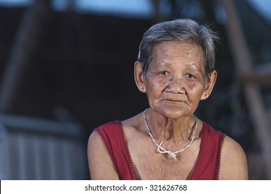 Old asian woman, Elderly people on countryside home background in thailand