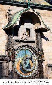 old astronomical clock, Prague, Chech republic