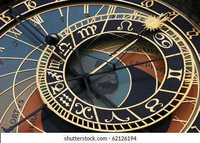 Old astronomical clock in Prague (Czech Republic)
