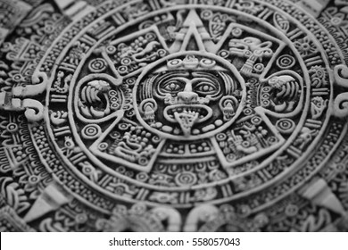 old aztec calendar as nice history background
