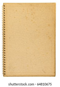 Old back cover of spiral recycle notebook
