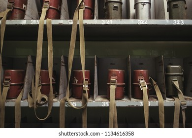 Old bags on shelf