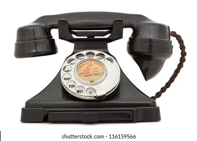 Old bakelite telephone. GPO 200 Series. 232 model. isolated on white with clipping path