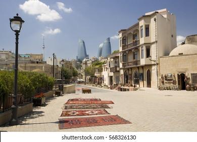Old Baku Azerbaijan, summer.