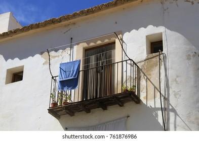 Old balcony in ibiza