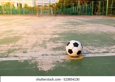 old ball at kick off