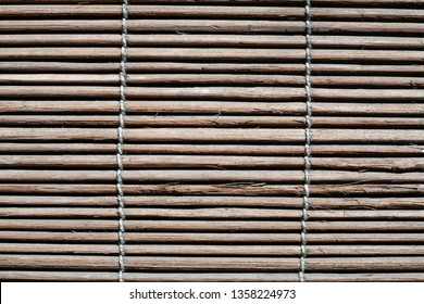 Old bamboo wood blind window texture, Abstract seamless background, Asian decorating home