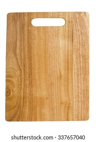 Old bamboo wood kitchen cutting board on an isolated white background.