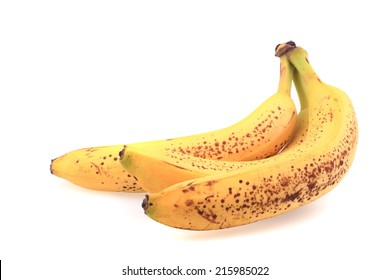 old bananas isolated on the white background