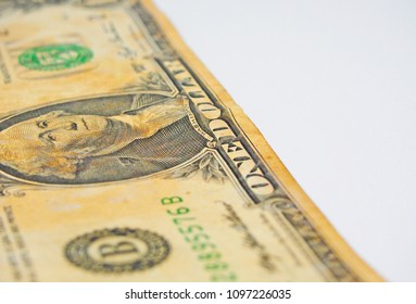 old banknote one dollar background