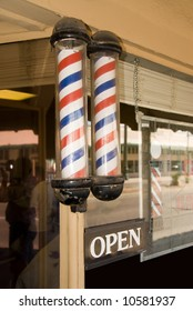 An old barber shop is actively open cutting hair for 50 years.