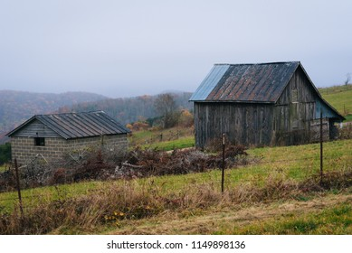 Old barn along the Blue Ridge Parkway in the Appalachian Mountains of Virginia