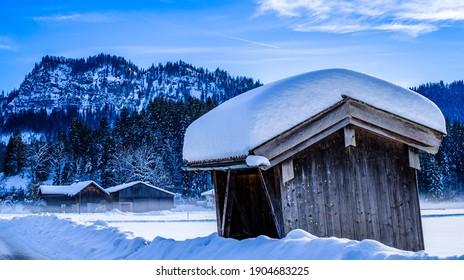 old barn in austria - photo