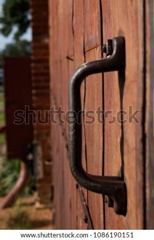 Old Barn Door Handle Stock Photo Edit Now 1086190151 Shutterstock