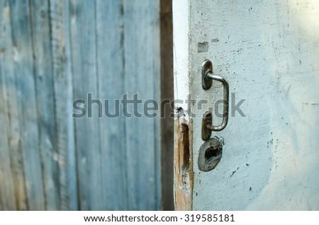 Old Barn Door Handle Stock Photo Edit Now 319585181 Shutterstock