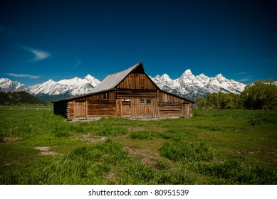 An old barn in Grand Tetons National Park