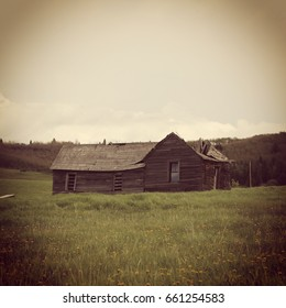 Old barn house with Instagram effect